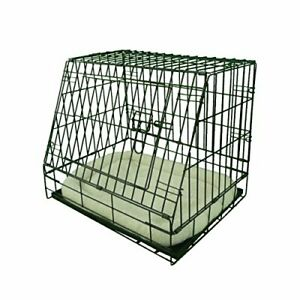 Deluxe Sloping Puppy Cage Small 24inch Black Folding Dog Crate with Non-Chew New