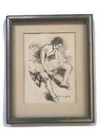 Original Signed Lithograph By Moses Soyer Entitled Ballerina