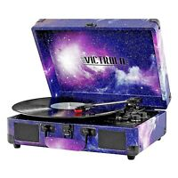 Victrola Portable Suitcase Record Player Turntable With Bluetooth 550BT - Galaxy