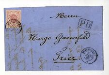 Luxemburg Mi. 7 auf Brief n. Trier, Attest Böttger BPP             KR0640059