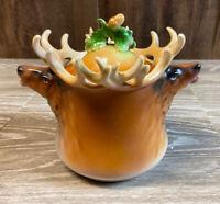 Antique Royal Bayreuth Art Nouveau Elk Humidor Tobacco Jar