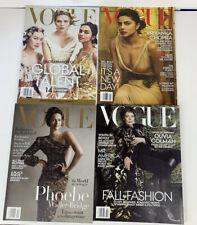 Vogue Magazine 4 Issues- 2019 Jan, April, Oct, And Dec. Scarlett Johansson