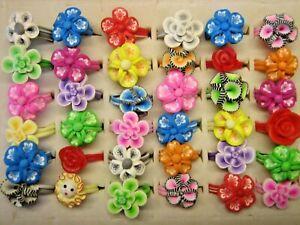 25 tolle Soft-Ringe für Kinder --- Motiv Blüten