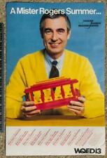 "Vintage Mr. Rogers Fred Rogers Summer Poster Pittsburgh 11""x17"" g35"