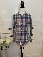 Jack Wills Blue & Pink Check Shirt (Size 8) (P26)