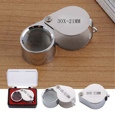 30 X21 mm Jewelers Magnifier Magnifying Glass Eye Loupe Detect Silver Jewlery
