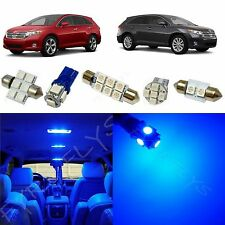 10x Blue LED lights interior package kit for 2009-2013 Toyota Venza TV1B