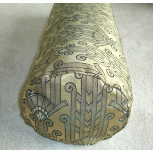 Art Deco Bolster Cover Gold and Black 6x16 Cylinder Cushion Cover Nouveau 16x6