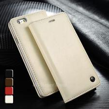 LG V10 Case Leder Synthetisch Tasche Etui Cover Hülle Bumper Cremeweiß Weiß