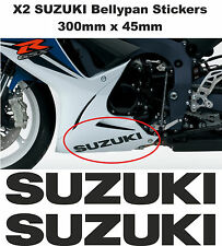 "Decals Stickers for Bellypan ""SUZUKI"" GSXR 600 / 750 / 1000 (PAIR) (ANY COLOUR)"