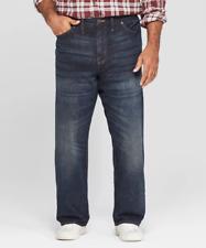 Men's Goodfellow & Co Big & Tall Straight Fit Jeans Dark Wash NWT 46x30