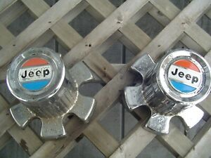 JEEP JEEPSTER CJ CHEROKEE WAGONEER HUBCAPS WHEEL COVER CENTER CAPS PICKUP TRUCK