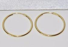 9CT YELLOW GOLD LADIES 20mm SLEEPER HOOP EARRINGS