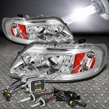 CHROME DUAL HALO PROJECTOR+LED 1PC HEADLIGHT+6000K HID FOR 97-03 F150/EXPEDITION
