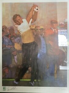Bernie Fuchs World Golf Hall Of Fame Print ARNOLD PALMER Both Signed & Numbered