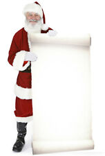 Santa with Large Sign Father Christmas Lifesize Cardboard Cutout Party Standee