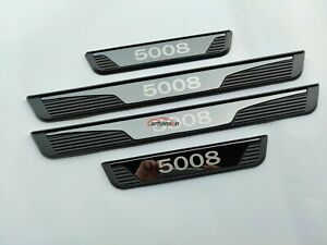 For Peugeot 5008 Car Accessories Door Sill Trim Protector Scuff Plate Auto Parts