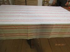 Nappe rayures pour grande table (LT013)
