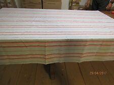 Nappe rayures bleu/rouge 144 x 220