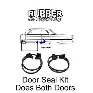 1982 - 1992 Chevy Camaro & Pontiac Firebird Door Seal Kit RH/LH