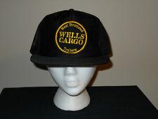 Vtg Wells Cargo Steel Trailers Snapback trucker hat/cap -70s/80s