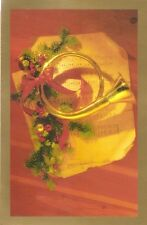 6 Christmas Cards : HORN AND HOLLY - by American Greetings!