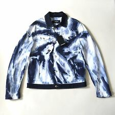 NWT $980 Dsquared2 Men's Bleached Swirl Denim Jeans Trucker Jacket M AUTHENTIC