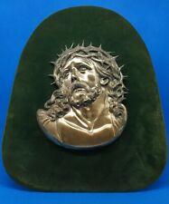 Quadro Cristo con corona di spine argento 800 vintage