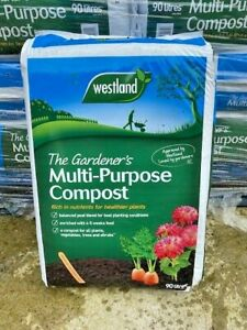 Westland 80L Multi Purpose Compost Garden Plant Hanging Basket Planter Soil