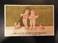 H.C. Phillips, Piano Tuner and Repairer Victorian Trade Card