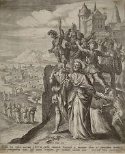 old print stampa antica Gesù Nazareth De Vos J. Sadeler 1581 kupferstich jesus