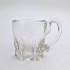 Antique American Blown & Faceted Flint Glass Whiskey or Lemonade Tumbler - 1 GL