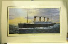 Simon Fisher - Cherbourg Bound, Titanic, Mid Channel April 10th 1912 (mounted)