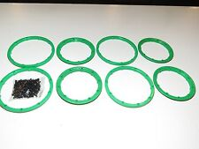 YY-MADMAX HPI KM ROVAN BAJA 1/5 5T 5B WHEEL BEADLOCK RINGS WING SCREWS GREEN