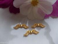 30-100 Engelsflügel Flügel gold hell  23 x 7 mm Metallperle Spacer Perlen