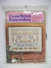 Columbia Minvera Cross Stitch Kit The Man Worthwhile # 6501 UNOPENED Great Gift