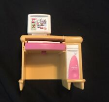 Computer Office Desk Table Fisher Price Loving Family New Additions Dollhouse