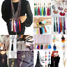 Elegant Women' Crystal Beaded Necklace Long Tassel Pendant Sweater Chain Jewelry