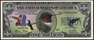HUMMINGBIRD MILLION 🐦💶 Wildlife Series Fantasy Note 🐦💶 Buy More Save More 🐦