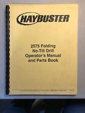 Haybuster 2575 Folding No Till Drill Operators Manual 71 72