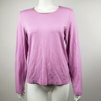 HANNA ANDERSSON Solid All Pink Long Sleeve Top Shirt Womens Size M Medium