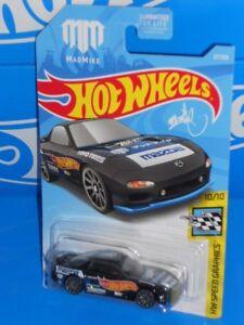 Hot Wheels 2019 HW Speed Graphics Series #27 '95 Mazda RX-7 Black w/ 10SPs