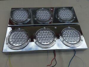 1SET CE2 METAL LED 10-30V STOP/PARKING/INDICATOR TAIL LIGHTS 4 TRAILER TRUCK BUS