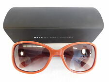 MARC JACOBS SUNGLASSES BURNT ORANGE WITH GOLD DETAIL BROWN OMBRE LENS WITH CASE