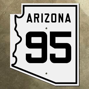 Arizona state route 95 highway marker road sign 1940s Quartzsite Lake Havasu