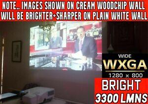 WXGA ULTRA SHORT THROW 3300 LUMENS 2 HDMI NEC PROJECTOR 6000 HR LAMP 26/7