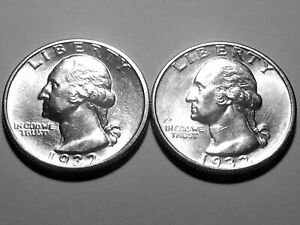 1932 D & S Washington Quarters * Two  Coin Set * Superb Gem BU