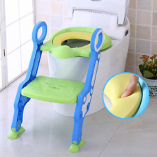 UPGRADED PAD Potty Training Toilet Seat with Step Stool Ladder for Boys & Girls