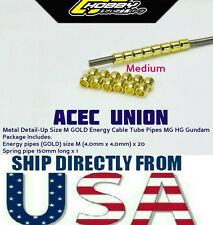 Metal Detail Up Size M GOLD Energy Cable Tube Pipes MG HG Gundam - U.S.A. SELLER