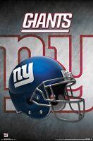NEW YORK GIANTS - HELMET LOGO POSTER - 22x34 NFL FOOTBALL NY 14993
